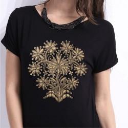 koszulka czarna czepiec haftowany