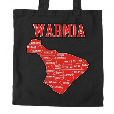 torba Warmia mapa gmin