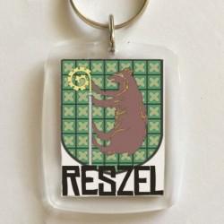 brelok herb Reszel