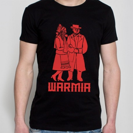 koszulka czarna Warmia para czerwona