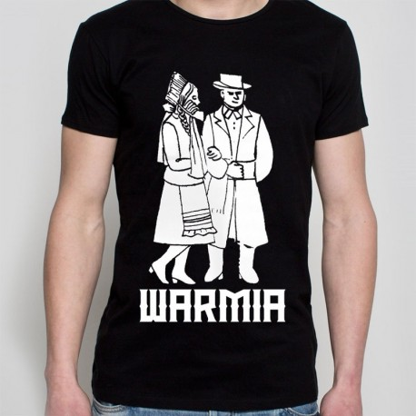 koszulka czarna Warmia para