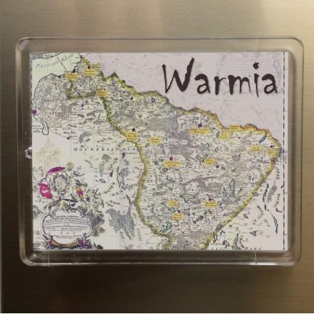 magnes Warmia mapa