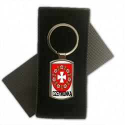 brelok metalowy herb gmina Czerwonka