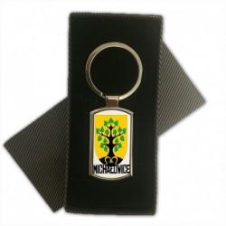 brelok metalowy herb gmina Michałowice