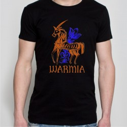 koszulka czarna Warmia konik