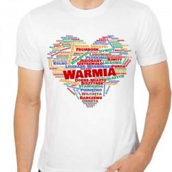 koszulka serce Warmia