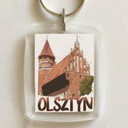 brelok Olsztyn zamek akwarela