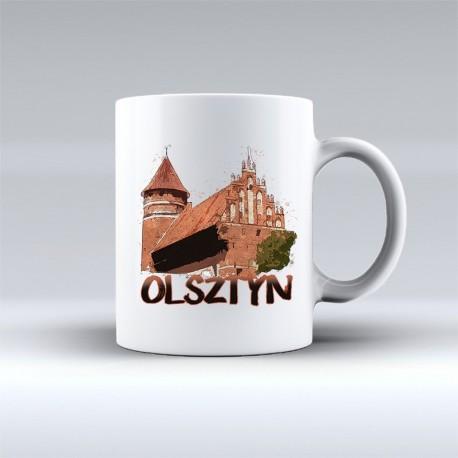 kubek Olsztyn zamek akwarela