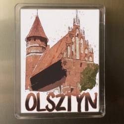 magnes Olsztyn zamek akwarela