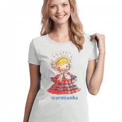 Koszulka warmińska biała warmianka